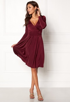 Chiara Forthi Allura dress Maroon Bubbleroom.no