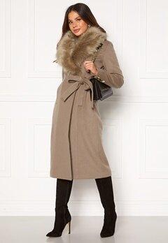 Chiara Forthi Amber Long Coat Nougat Bubbleroom.se