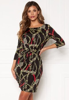 Chiara Forthi Amy 3/4 Sleeve Dress Black / Red Bubbleroom.se