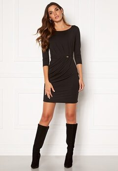 Chiara Forthi Amy 3/4 Sleeve Dress Black Bubbleroom.se