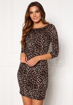 Chiara Forthi Amy 3/4 Sleeve Dress Leopard Bubbleroom.se