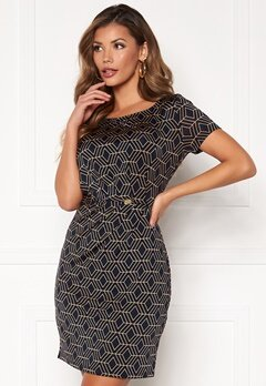 Chiara Forthi Amy Dress Dark navy / Gold Bubbleroom.se