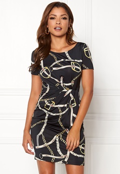 Chiara Forthi Amy Dress Black / Patterned Bubbleroom.se