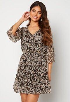 Chiara Forthi Annabelle flounce dress Leopard Bubbleroom.se
