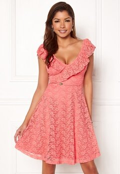 Chiara Forthi Ardiana Dress Coral pink Bubbleroom.se