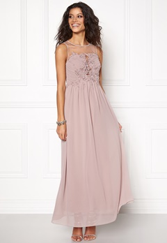 Chiara Forthi Ariana Embellished Dress Dusty pink Bubbleroom.se
