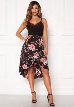 Chiara Forthi Arona wrap skirt Black / Pink / Floral Bubbleroom.se