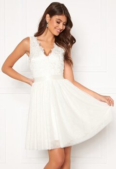 Chiara Forthi Audrey tulle dress White Bubbleroom.se