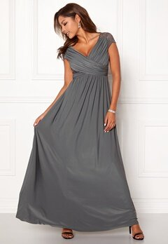Chiara Forthi Aurelia dress Dark grey Bubbleroom.se