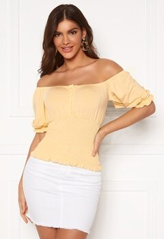 Chiara Forthi Bea smock top Light yellow Bubbleroom.se