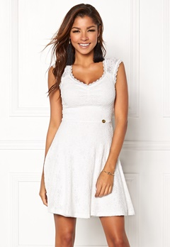 Chiara Forthi Biana Lace Dress White Bubbleroom.se