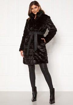 Chiara Forthi Bologna Faux Fur Coat Black Bubbleroom.se