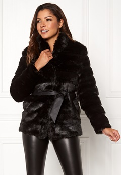 Chiara Forthi Bologna Faux Fur Jacket Black Bubbleroom.se