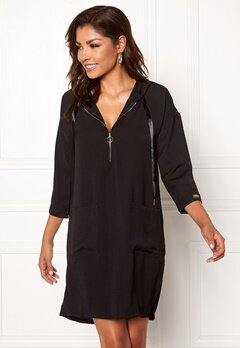 Chiara Forthi Bonnie hood tunic Black Bubbleroom.se