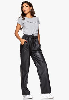 Chiara Forthi Brave Leather Pants Black Bubbleroom.se