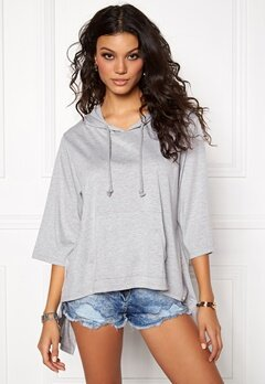 Chiara Forthi Break Free Hoodie Top Grey melange Bubbleroom.eu