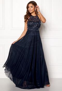 Chiara Forthi Briley Halterneck Gown Dark blue Bubbleroom.se e2abacac015db