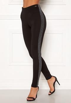 Chiara Forthi Brillante sparkling stripe pants Black / Silver Bubbleroom.se