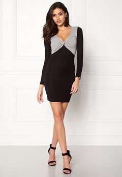 Chiara Forthi Calandra Dress Black / Grey melange Bubbleroom.se