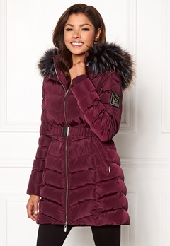 Chiara Forthi Campitello Padded Jacket Dark wine-red Bubbleroom.se