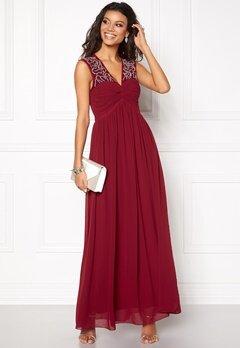 Chiara Forthi Caprice Embellished Dress Wine-red Bubbleroom.eu