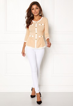 Chiara Forthi Cardi Peplum Top Beige / Natural white / Gold Bubbleroom.se
