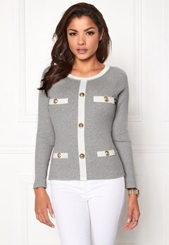 Chiara Forthi Cardi Top Grey melange Bubbleroom.no