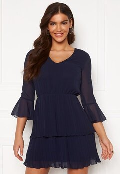 Chiara Forthi Carlotta dress Dark blue Bubbleroom.se