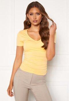 Chiara Forthi Carmelina ruched top Yellow Bubbleroom.se