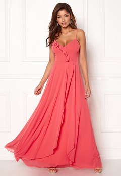 Chiara Forthi Carolinne dress Coral red Bubbleroom.se