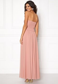 Chiara Forthi Cascade Bandeau Dress Powder pink Bubbleroom.fi