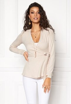 Chiara Forthi Cashmere-Feel Cozy Wrap  Top Sand Bubbleroom.eu