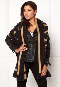 Chiara Forthi Cecena shawl Black / Camel Bubbleroom.se
