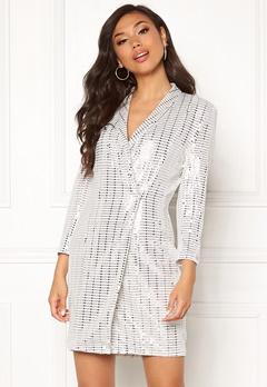Chiara Forthi Celebrity sequin blazer dress White / Silver Bubbleroom.se