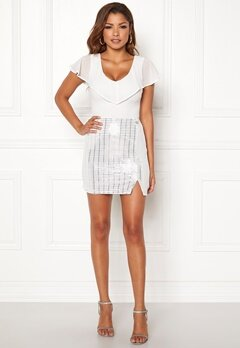 Chiara Forthi Celebrity skirt White / Silver Bubbleroom.se