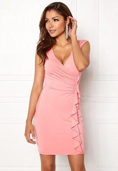 Chiara Forthi Celina ruffle dress Pink Bubbleroom.se