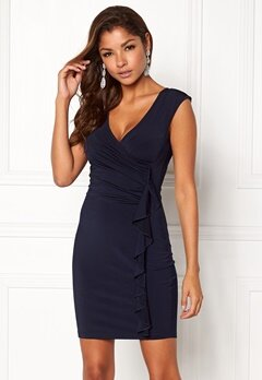 Chiara Forthi Celina ruffle dress Midnight blue Bubbleroom.se