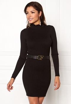 Chiara Forthi Cecile knitted dress Black Bubbleroom.se