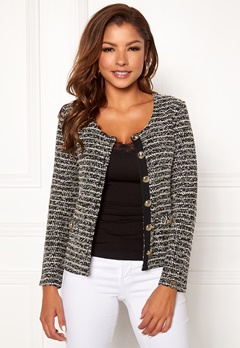 Chiara Forthi Charlize jersey jacket Black   Offwhite Bubbleroom.se e404bd1f758c4