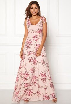 Chiara Forthi Cherie tie dress Light pink / Floral Bubbleroom.se