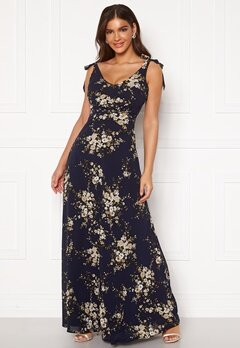 Chiara Forthi Cherie tie dress Dark blue / Floral Bubbleroom.se