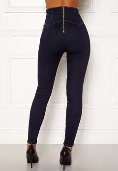 Chiara Forthi Chiara corset waist jeans Dark blue Bubbleroom.se