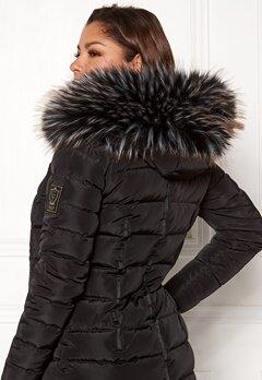Chiara Forthi Chiara Faux Fur Collar Black / White / Brown Bubbleroom.se