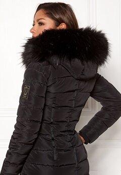 Chiara Forthi Chiara Faux Fur Collar Black Bubbleroom.se
