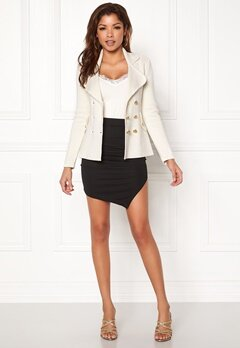 Chiara Forthi Chiara Heavy Knit Blazer Antique white Bubbleroom.se