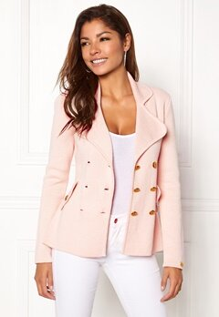 Chiara Forthi Chiara Heavy Knit Blazer Light pink Bubbleroom.se