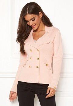 Chiara Forthi Chiara Heavy Knit Blazer Light pink Bubbleroom.se