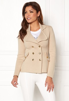 Chiara Forthi Chiara Heavy Knit Blazer Light beige Bubbleroom.se