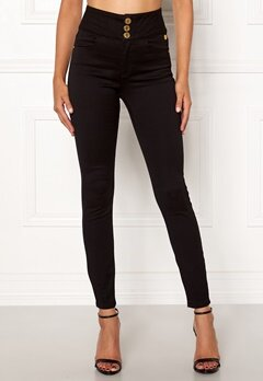 Chiara Forthi Chiara high waist jeans Black Bubbleroom.se