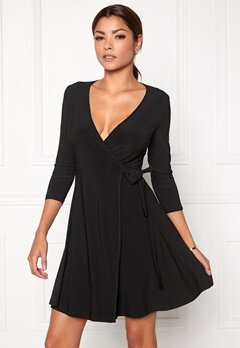 Chiara Forthi Chiara Wrap Dress Black Bubbleroom.no